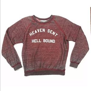 Wildfox Heaven Sent Hell Bound Red Sweatshirt